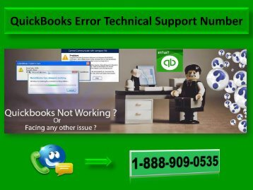 Call 1-888-909-0535 QuickBooks Error Technical Support