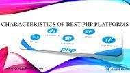 Characteristics of Best PHP Platforms PPT