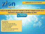 Global Patient Handling Equipment Market, 2015–2021
