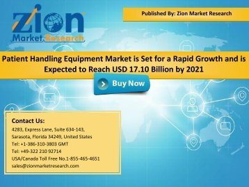 Global Patient Handling Equipment Market, 2015–2021