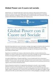 Global Power con il cuore nel sociale