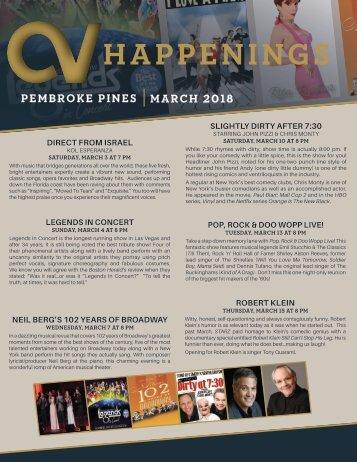 Pembroke Pines March 2018 Happenings