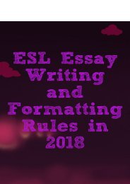 ESL Essay Writing and Formatting Rules in 2018
