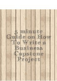 5 minute Guide on How yo Write a Business Capstone Project