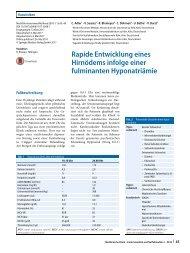 08 Rapide Entwicklung eines Hirnödems infolge einer fulminanten Hyponatriämie