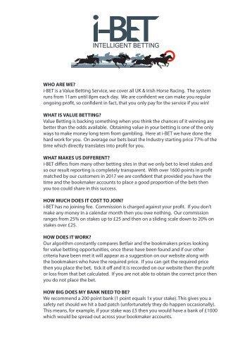 i-BET online info sheet