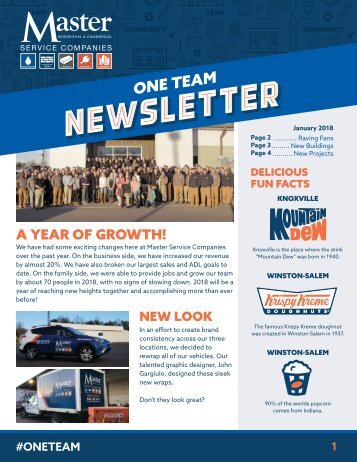 One Team Newsletter January 2018