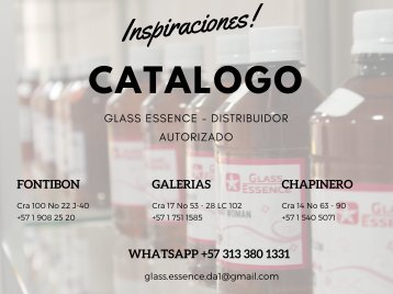 CATALOGO GLASS ESSENCE