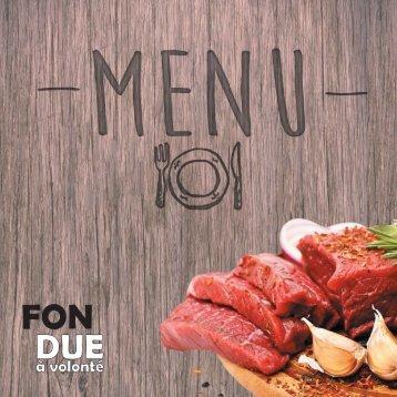 Fondue à volonté - menu v2 (aangepaste menu pagina)