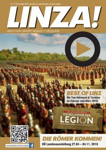 LINZA stadtmagazin Ausgabe #11 Februar-März 2018