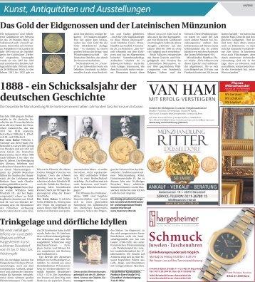 Kunst, Antiquitäten und Ausstellungen  -02.02.2018-