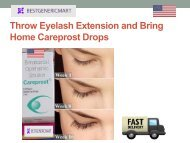 Throw Eyelash Extension and Bring Home Careprost Drops