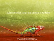 Custom Printed Labels and Stickers in Australia - Chameleon Print Group