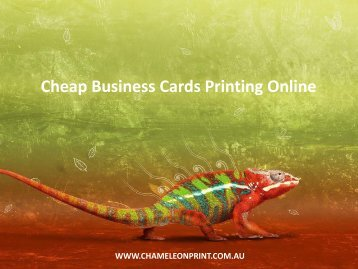 Cheap Business Cards Printing Online - Chameleon Print Group