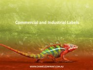 Commercial and Industrial Labels - Chameleon Print Group