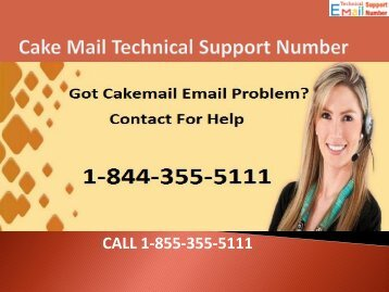 1-844-355-5111 CakeMail Support Number