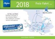 Fahrplanheft allgäumobil 2018