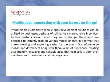 SynapseIndia eCommerce Development Company India