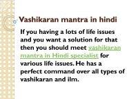 Vashikaran mantra in hindi Specialist