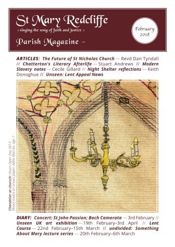 St Mary Redcliffe Church Parish Magazine - February 2018
