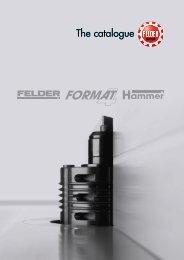 Catalog Felder Gruppe 2018 - Utilaje pentru prelucrarea lemnului