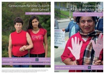 Friedensaktiv. Frauen für eine gerechte Welt.