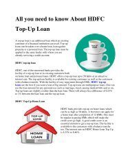 All you need to know About HDFC Top-Up Loan