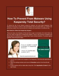 How To Prevent From Malware Using Kaspersky Total Security?