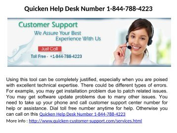 Quicken Help Desk Number 1-844-788-4223