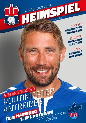 Hallenheft Handball Sport Verein Hamburg - 1. VfL Potsdam | Saison 2017/18