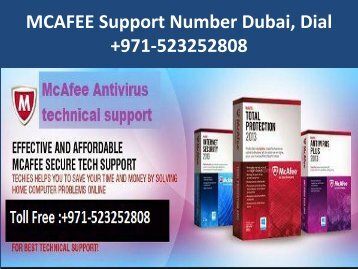 MCAFEE Support Number Dubai, Dial +971-523252808