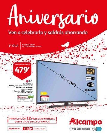 ALCAMPO Aniversario 1ª OLA Ofertas hasta 11 de febrero 2018
