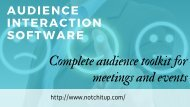 Audience Interaction Software - Complete audience toolkit for meetings and events