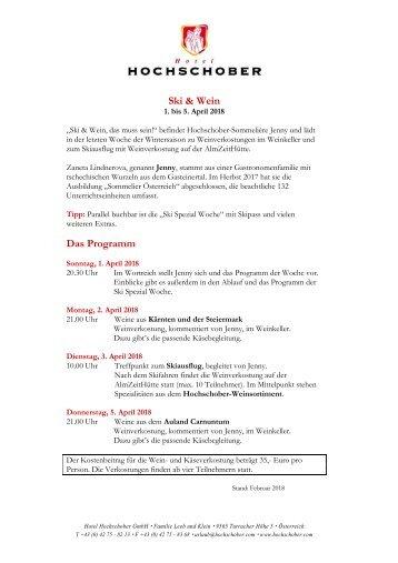 HS Programm Ski und Wein 2018