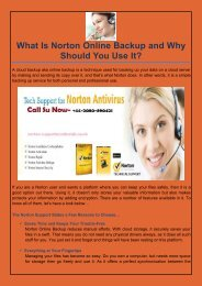 What Is Norton Online Backup and Why Should You Use It?