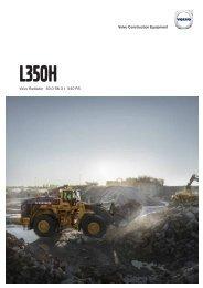 Volvo Radlader L350H - Datenblatt / Produktbeschreibung