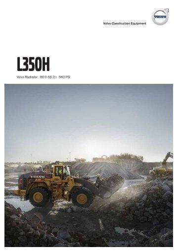 Datenblatt - Produktbeschreibung Volvo Radlader L350H
