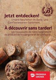 Neuheiten im Back- und Confiseriewaren-Sortiment DE FR