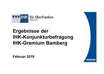 1802 Konjunktur im Raum Bamberg - Top-Auslastung