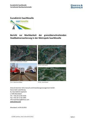 Gutachten Eurodistrikt Grenzü. Stadtbahnerweiterung d Synthese de  l'étude Teile1-4