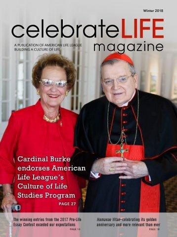 Celebrate Life Magazine - Winter 2018