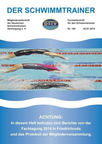 Der Schwimmtrainer Nr. 105
