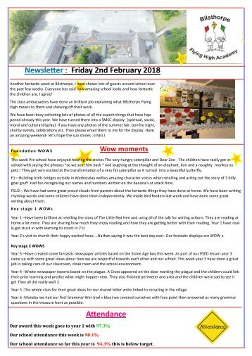 BFHA Newsletter 16 2018