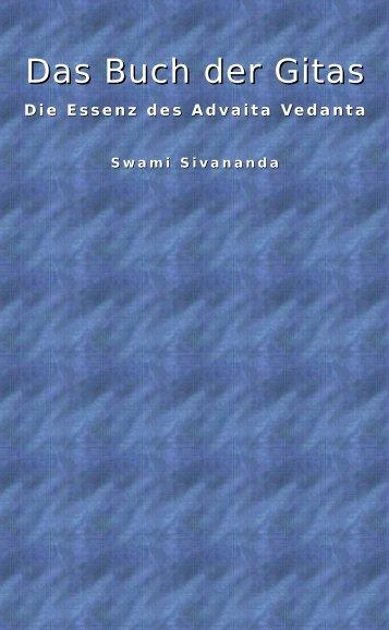 Sivananda_Das Buch der Gitas_Die Essenz des Advaita Vedanta