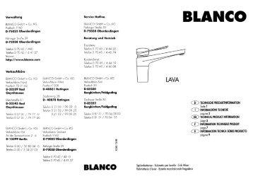 Blanco Oberderdingen 40 free magazines from login blanco germany com