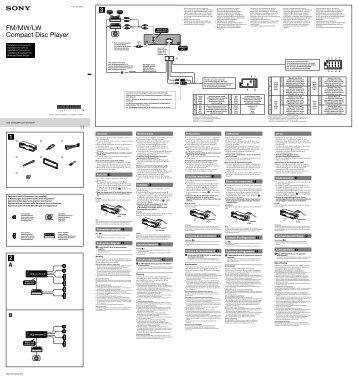 Sony CDX-GT264MP - CDX-GT264MP Guide d'installation Néerlandais