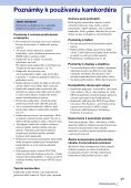 Sony HDR-AS30VD - HDR-AS30VD Guide pratique Slovaque - Page 3