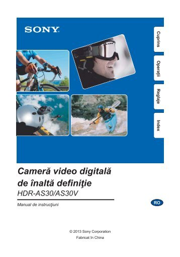 Sony HDR-AS30VD - HDR-AS30VD Guide pratique Roumain
