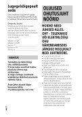 Sony HDR-CX900E - HDR-CX900E Consignes d'utilisation Estonien - Page 2