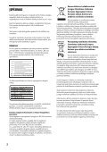 Sony UHP-H1 - UHP-H1 Consignes d'utilisation Lituanien - Page 2
